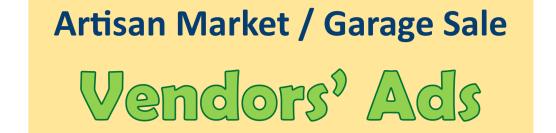 Artisan Market – Vendors' Ads