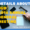 An exciting 2016 AGM meeting!