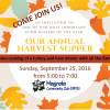 Harvest Supper 2016 – Fund-raiser!