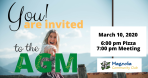 Annual General Meeting – Come attend! March 10th with Pizza