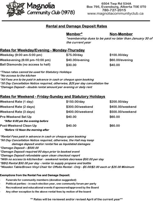 Rental Rates 14-09-16