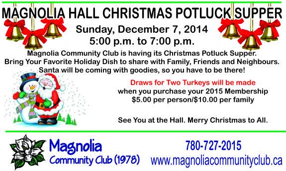 Magnolia Christmas Potluck Supper 2014