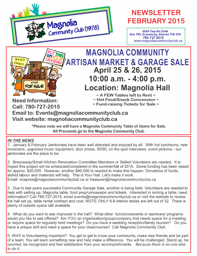 Magnolia Feb 2015 Newsletter Page 2